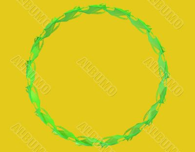 Green circular pattern arrangement