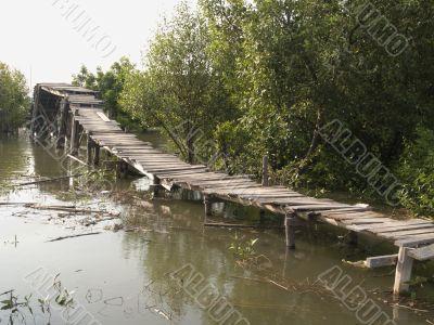 Fragile, old bridge