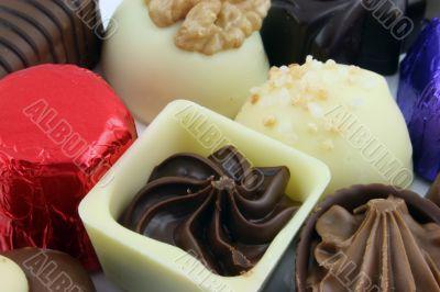 Luxury Chocolates - focus on single chocolate