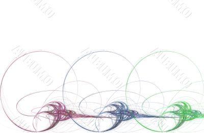 Border/Business Graphic - Reg Green Blue Spirals