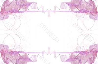 Border/Business Graphic Pink Swirls