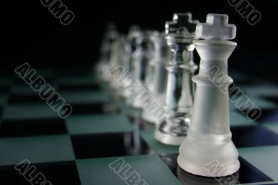 Chess Pieces fading into the background