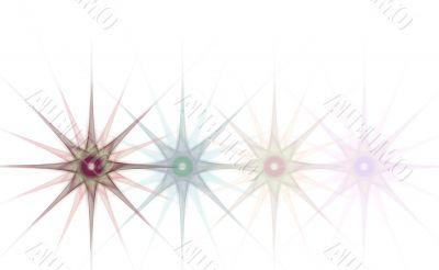 Border/Business Graphic - Fading Grunge Stars