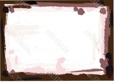Dark Brown Grunge Border