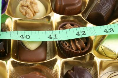 Quality Chocolates and tape measure