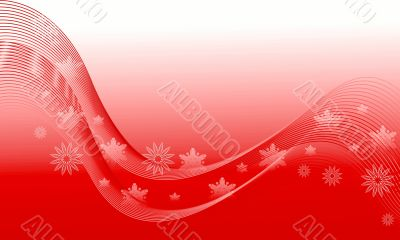 Abstraction red snow background