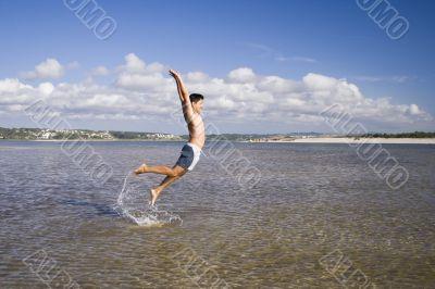 Jump on the ocean