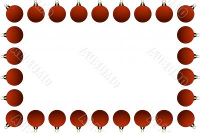 Frame of Christmas Balls