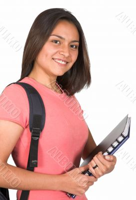 beautiful latin american student