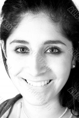 beautiful female in black and white