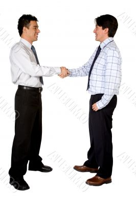business deal between two men