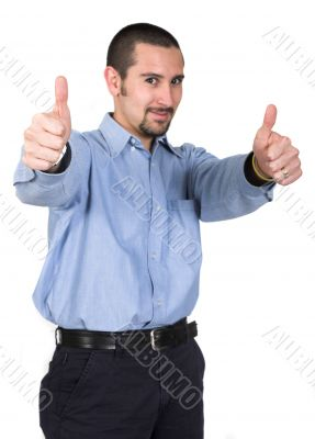 casual guy thumbs up