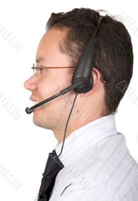 friendly customer services man