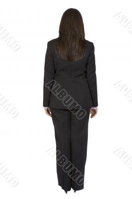 business woman standing backwards