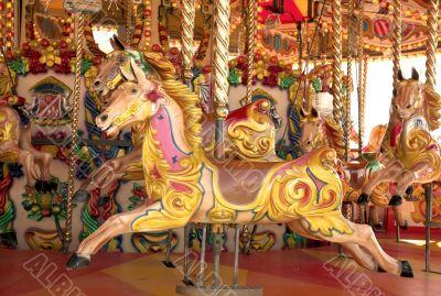 carousel at fun fair