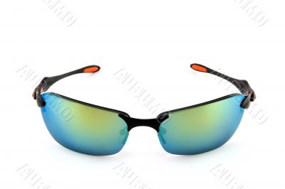 Sporty sunglasses on white background