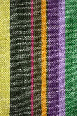 Colorful rustic linen fabric background