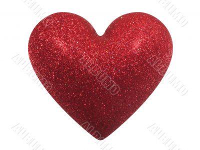 Glittering Valentine heart (+ clipping path)