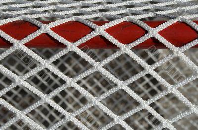 Hockey goal net, detail