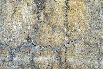 Grunge background: cracked concrete wall