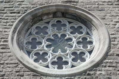 Ornamental window of a church