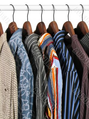 Colorful clothes on a rack