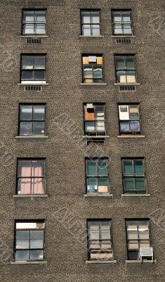 Three rows of windows