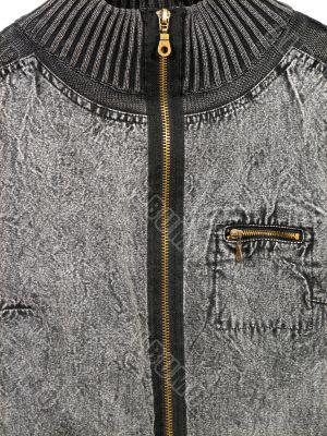 Zipped jean jacket
