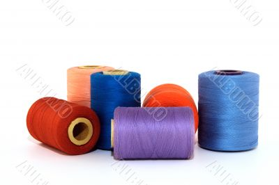 Colorful thread bobbins