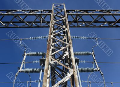 Detail of high voltage electricity plant