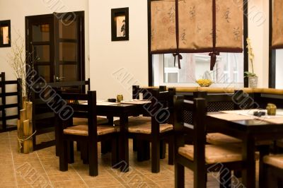 Interior of japanese restaurant, sushi bar #1