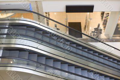 Escalators in trade centre