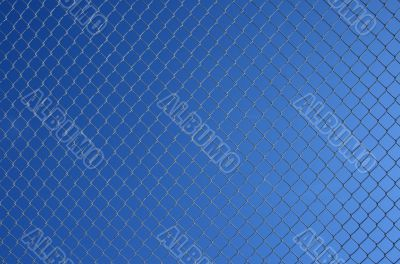 Chain link fence against sky