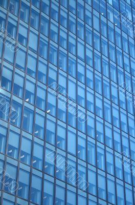 Windows of a skyscraper - working day