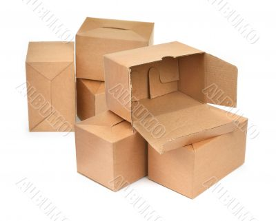 group of cardboard
