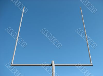 American football goal posts and the blue sky