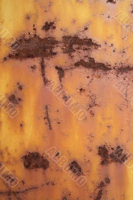 Rusty and scratched iron