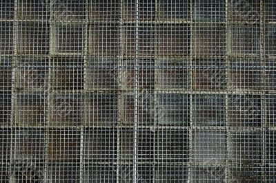 Rusty wire mesh background