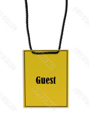 Guest backstage pass