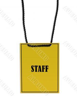 Staff backstage pass