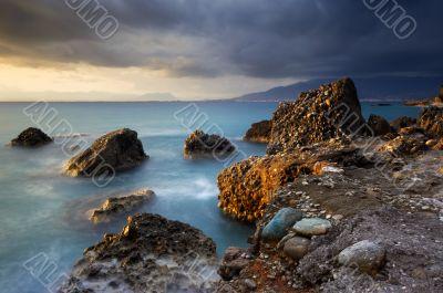 Seascape in Greece