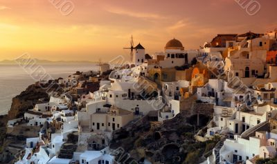 The village of Oia, Santorini, Greece