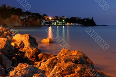 The fishing village of Avia, southern Greece