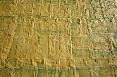 Yellow-green foam texture