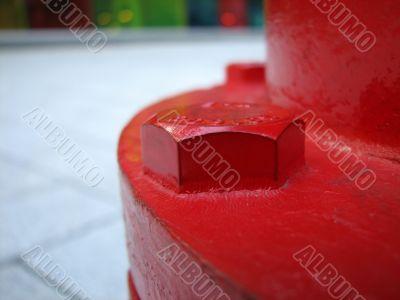 Closeup of a fire hydrant