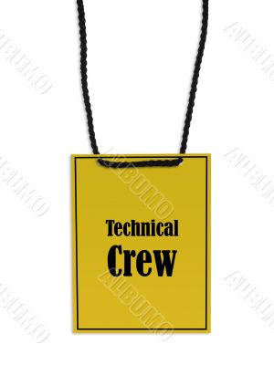 Technical crew stage pass