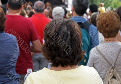 People watching a concert