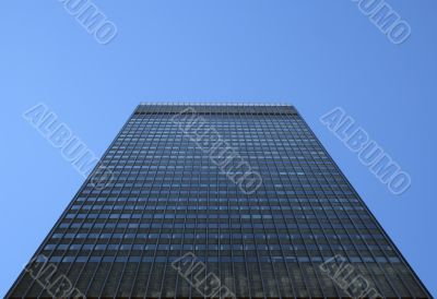 Perspective view of a high-rise building