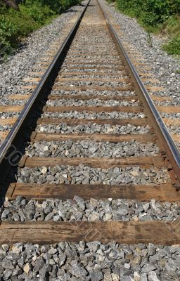 Railway track fading into the distance