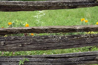 Very old rustic fence